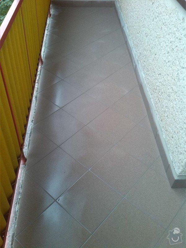 Výměna několika podlahových dlaždic, odstranění starých a pokládka nových dlaždic na balkóně: IMG_20140807_101028
