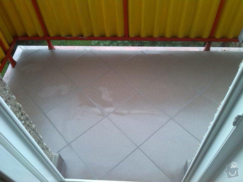 Výměna několika podlahových dlaždic, odstranění starých a pokládka nových dlaždic na balkóně: IMG_20140807_101040