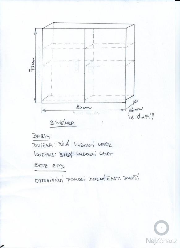 Vestavěnou skříň a menší skříň na zeď: SKRIN