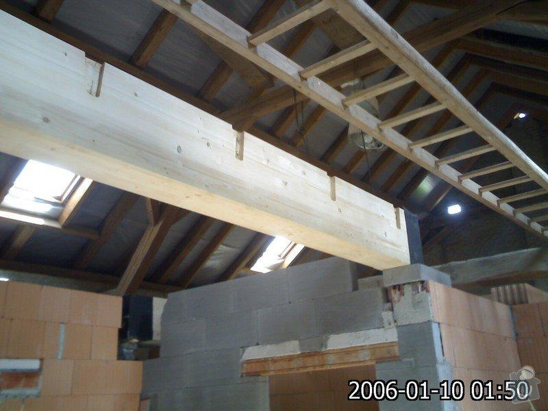 Dřevěná stropní konstrukce: FOTKY_PDA_031