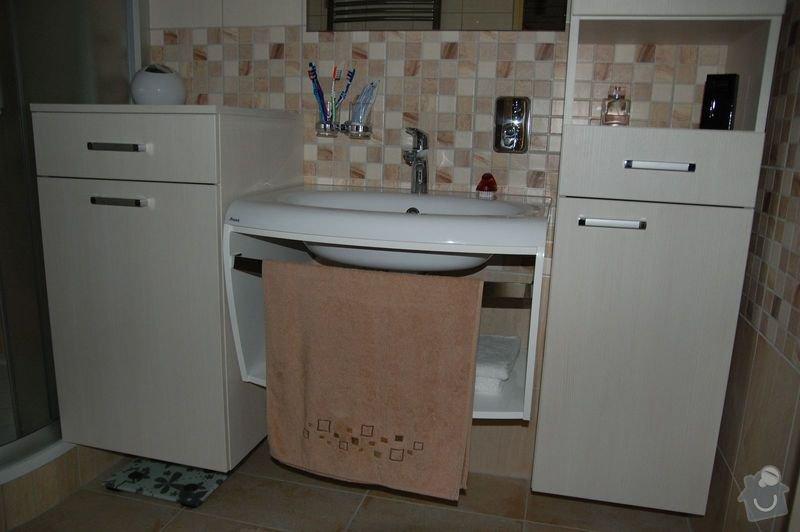 Rekonstrukce koupelny v Býšti: nabytek1