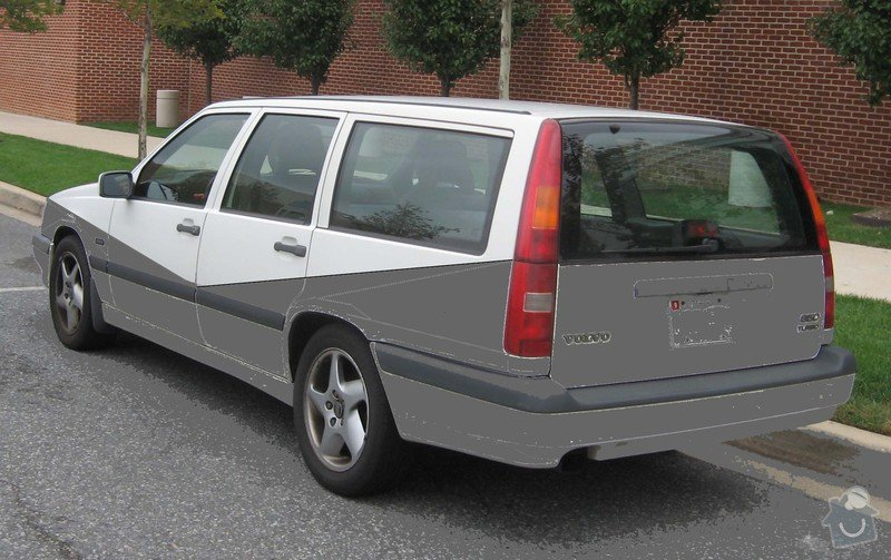 Lakování / volvo 850 kombi / díly: Volvo-850-wagon-rear