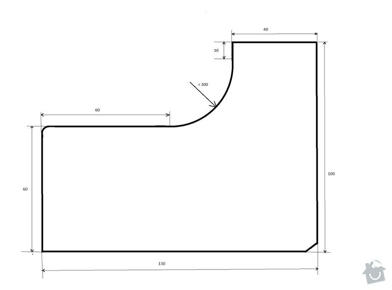 Stolařské práce - vyhotovení rohové desky stolu - 2ks: Stul_deska1