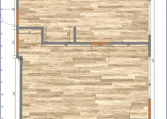 Rekonstrukce kuchyně, obýváku a chodby