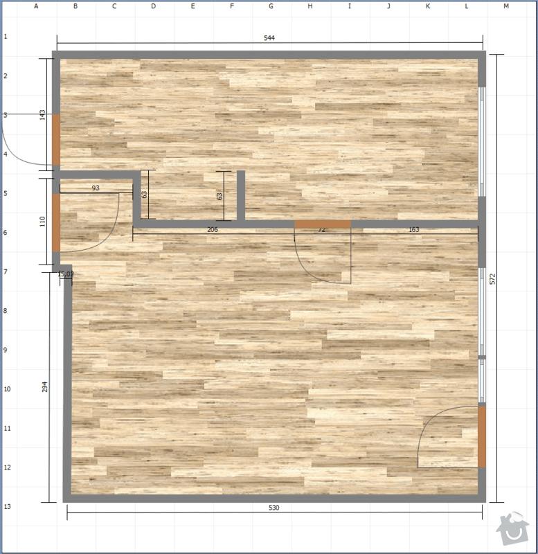 Rekonstrukce kuchyně, obýváku a chodby: puvodni_stav