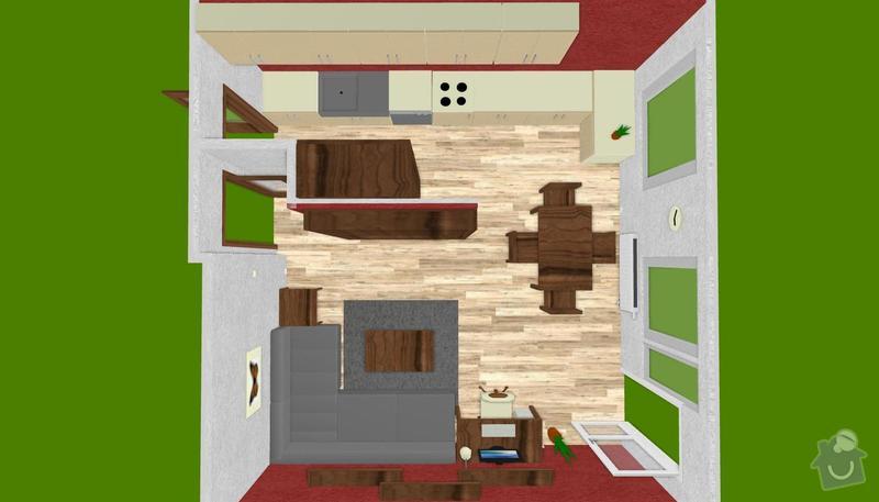 Rekonstrukce kuchyně, obýváku a chodby: prehled3