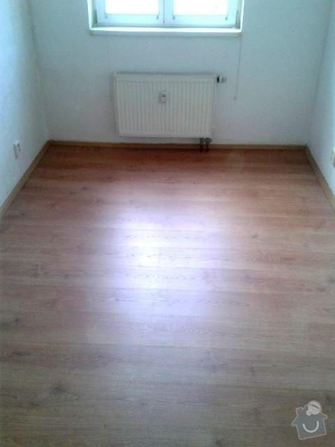 Pokladka podlahy a malovani: Loznice_Po