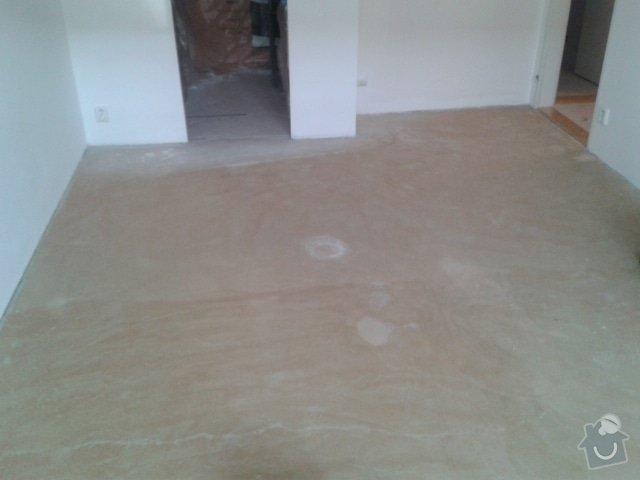 Pokladka podlahy a malovani: Obyvak_Pred