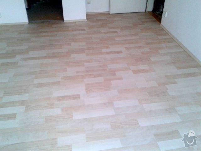 Pokladka podlahy a malovani: Obyvak_Po