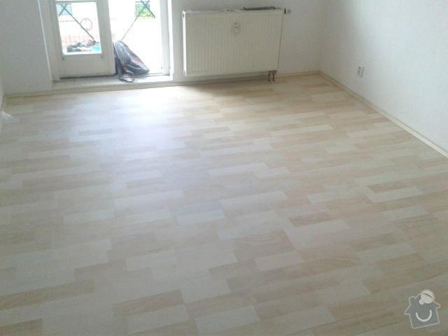Pokladka podlahy a malovani: Obyvak_Po2