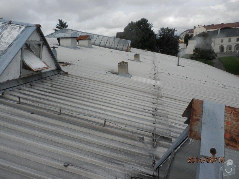 Oprava střechy lahvovny v pivovaru Vyškov: P8133187