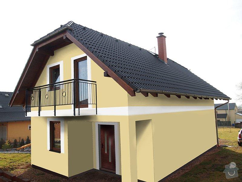 180 m2 fasada na novostavbě: v1