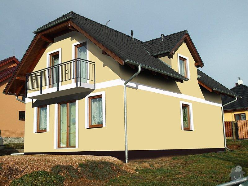 180 m2 fasada na novostavbě: v2
