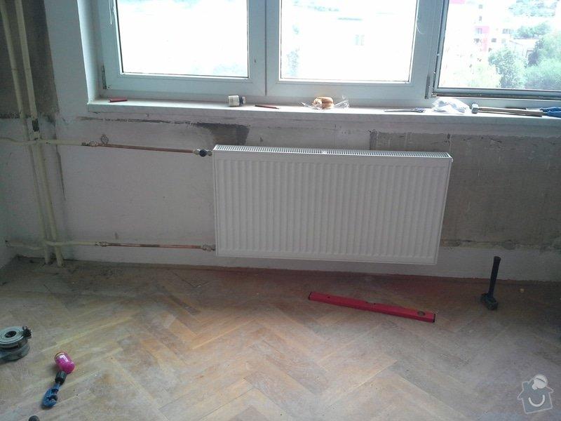 Výměna 4 radiátorů, úprava umístění plyn. kohoutu v kuchyni: 20140812_122632