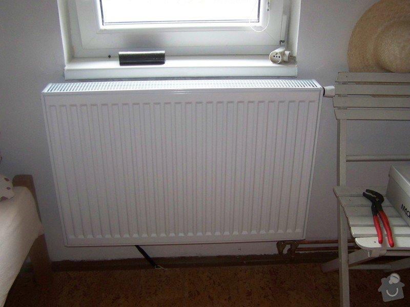 Topeni pro chalupu: radiator_v_podkrovi