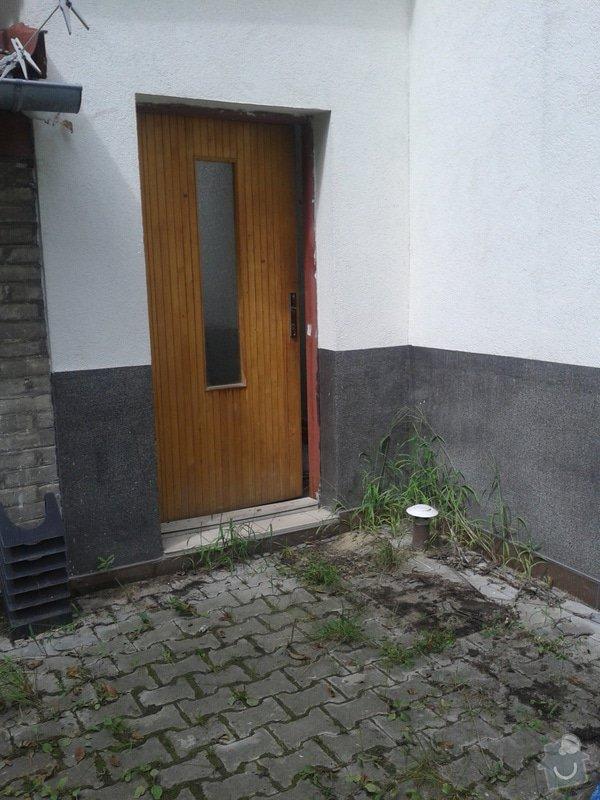 Zastřešení vstupu do domu: 20140815_130152