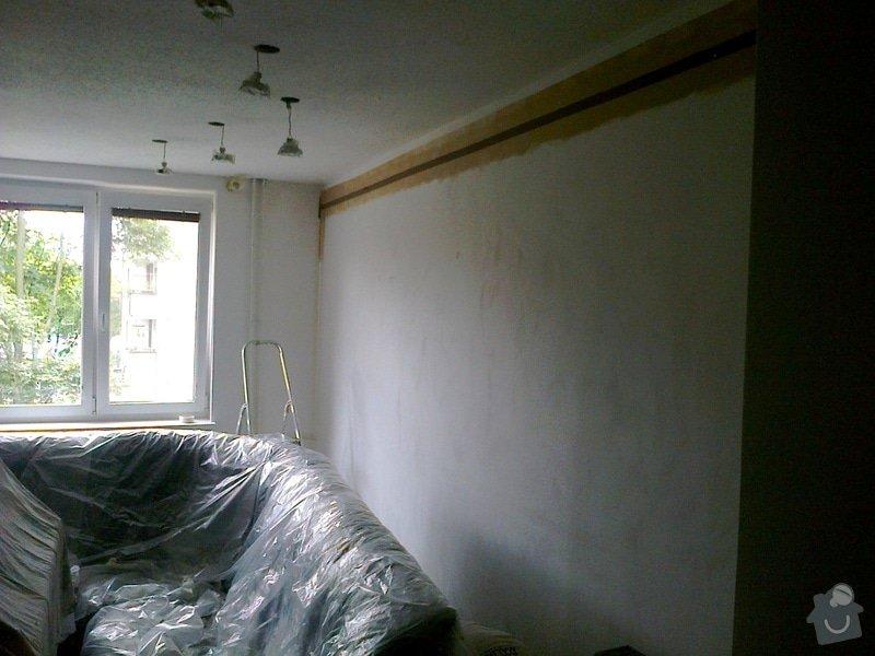 Malování pokoje, nástřik Gotele: Malovani_obyvaciho_pokoje_nastrik_Gotele_5_
