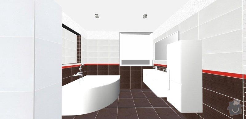 Pokládka obkladů a dlažby v koupelně a wc: 5ok