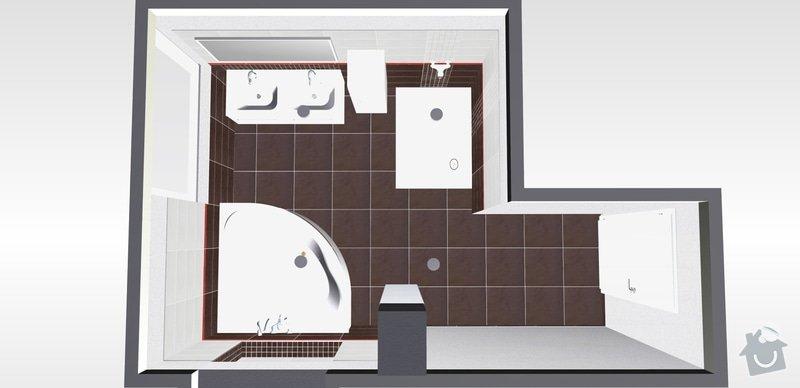Pokládka obkladů a dlažby v koupelně a wc: 5k