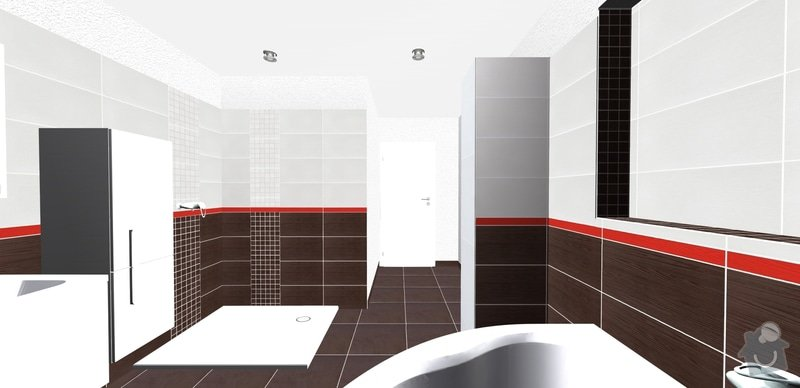 Pokládka obkladů a dlažby v koupelně a wc: 5dv