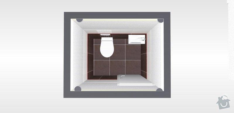 Pokládka obkladů a dlažby v koupelně a wc: 2wc