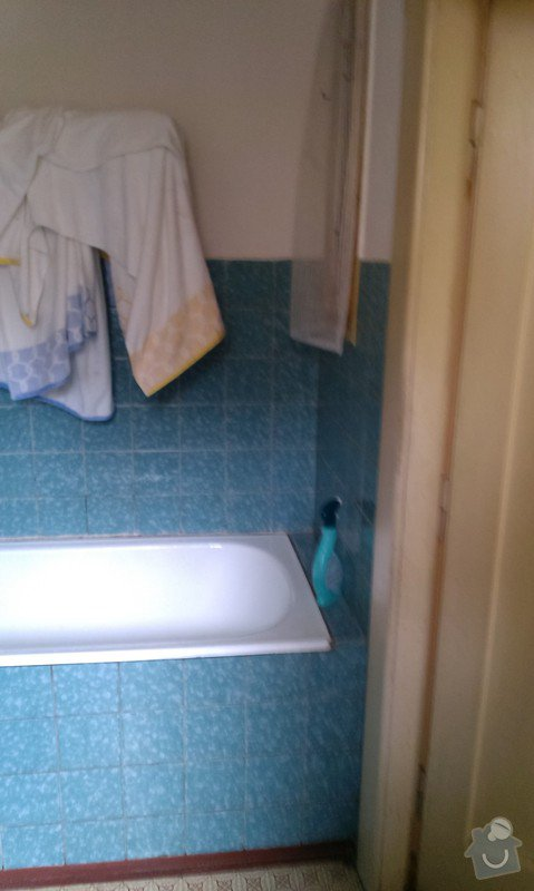 Rekonstrukce koupelny, příprava pro kuchyňský kout: koupelna_1