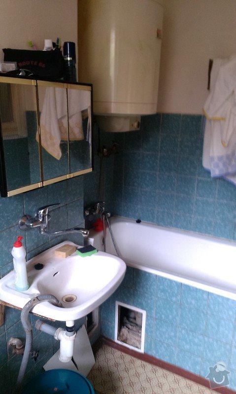 Rekonstrukce koupelny, příprava pro kuchyňský kout: koupelna_2