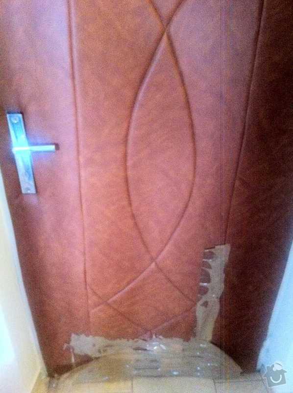 Oprava calouneni dveri: dvere