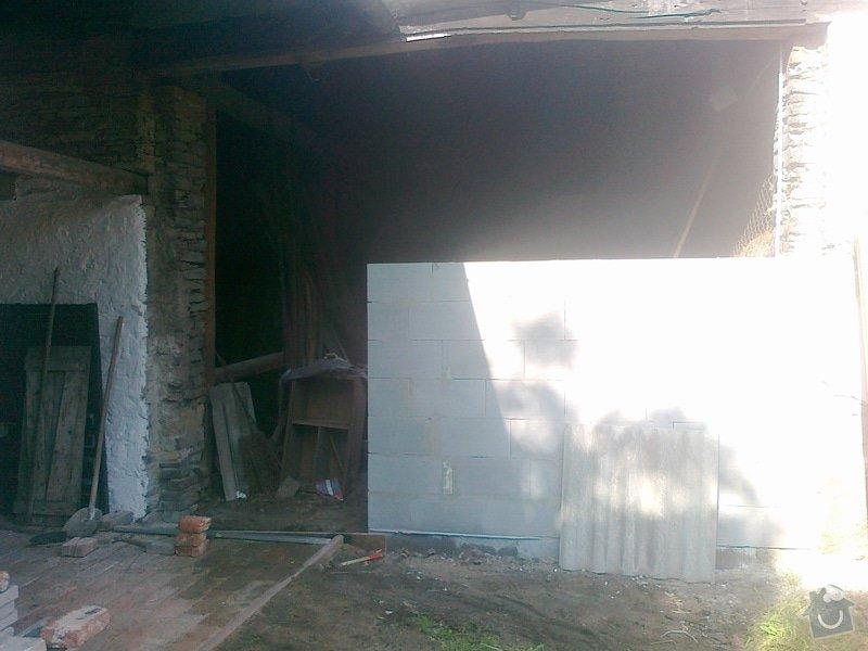 Přestavba stodoly a černá kuchyně: 150720141515