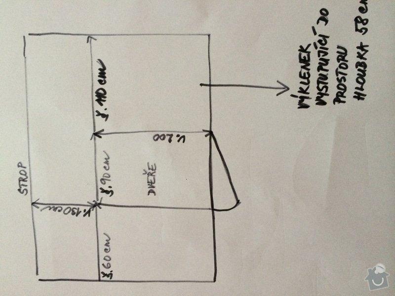Výroba vestavěné skříně a nábytku do dětského pokoje: nakres