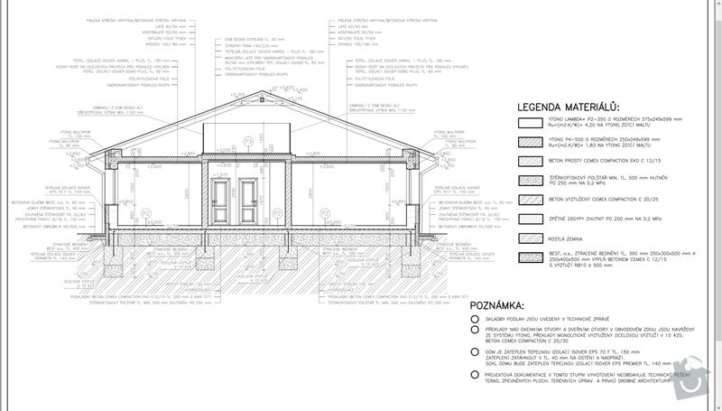 Zhotovení základů RD bungalov: Rez_A-A
