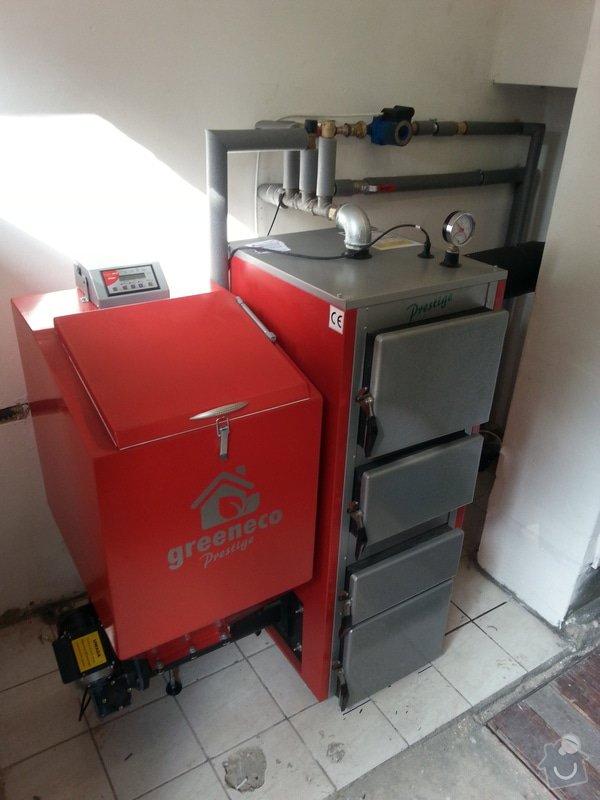 Prodej Automatický kotel Greeneco 20kW + montáž + rekonstrukce topení+ nový rozvod a dopojení do radiátorů.: 20140819_163117