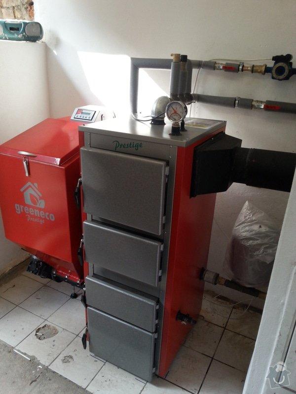 Prodej Automatický kotel Greeneco 20kW + montáž + rekonstrukce topení+ nový rozvod a dopojení do radiátorů.: 20140819_163143