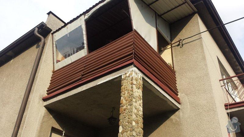 Balkonové plastové zábradlí: 20140729_181024