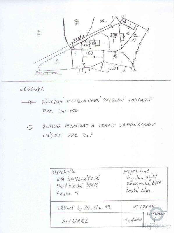 Částečná rekonstrukce chalupy Zbyny : V1_Situace