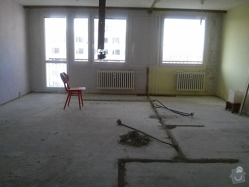 Frézování podlahy 12m2: bohnice_stav