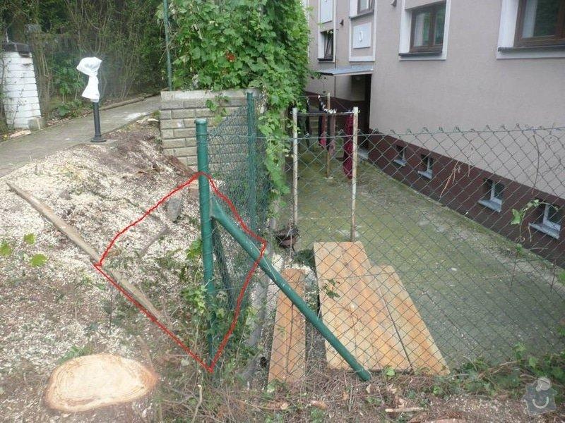 Zpevneni svahu na zahrade: P1070279