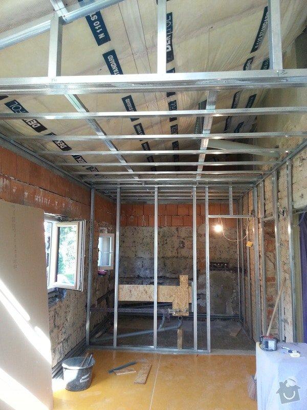 Vytvoření stěn a stropů v kuchyni a koupelně: 20130817_104428