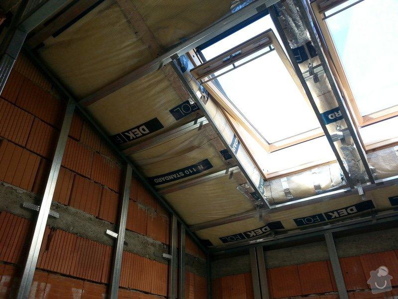 Vytvoření stěn a stropů v kuchyni a koupelně: 20130817_104441