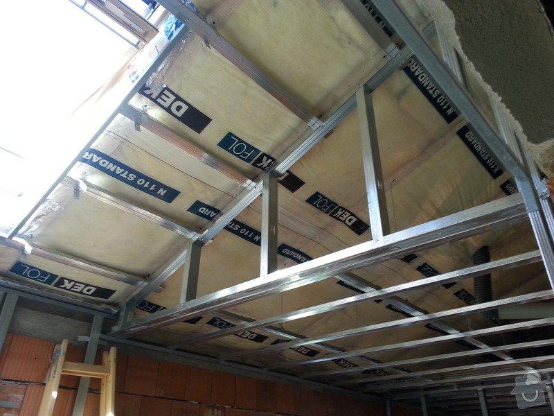 Vytvoření stěn a stropů v kuchyni a koupelně: 20130817_104445