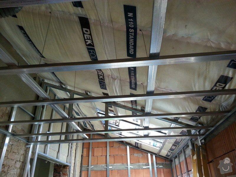 Vytvoření stěn a stropů v kuchyni a koupelně: 20130817_104503