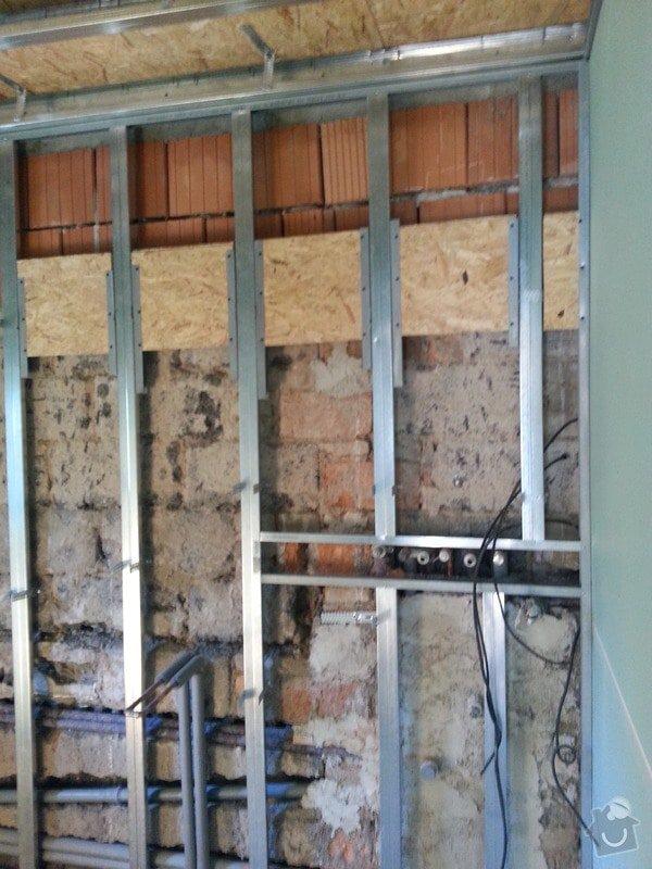 Vytvoření stěn a stropů v kuchyni a koupelně: 20130818_123220