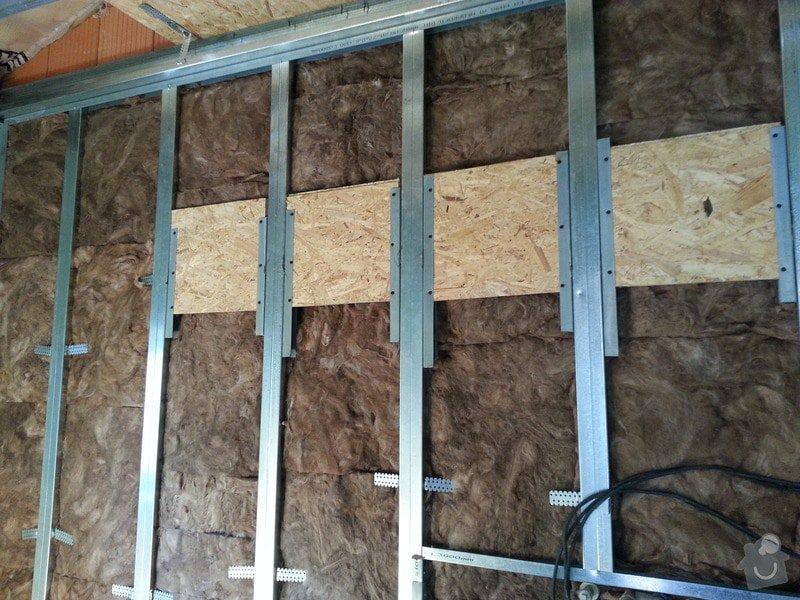 Vytvoření stěn a stropů v kuchyni a koupelně: 20130818_134518