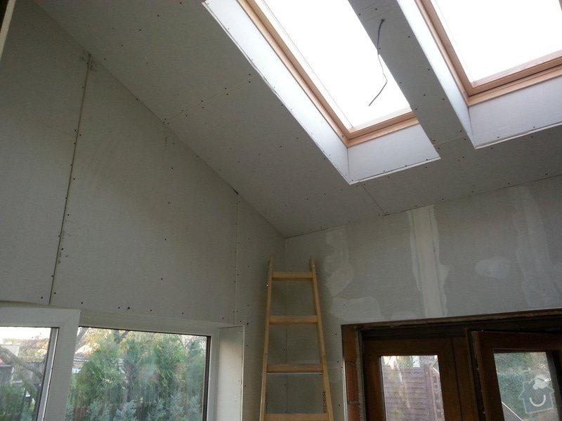 Vytvoření stěn a stropů v kuchyni a koupelně: 20131028_161758