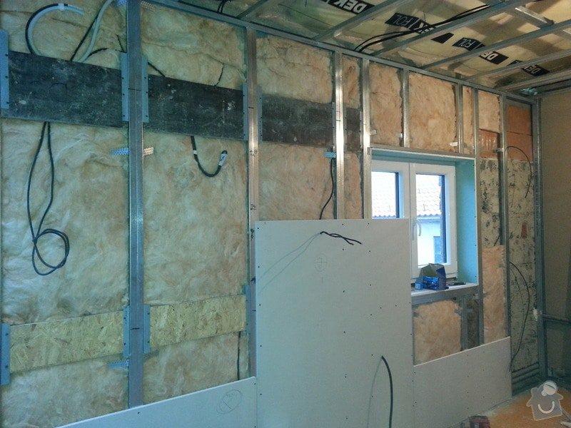 Vytvoření stěn a stropů v kuchyni a koupelně: 20131102_153257