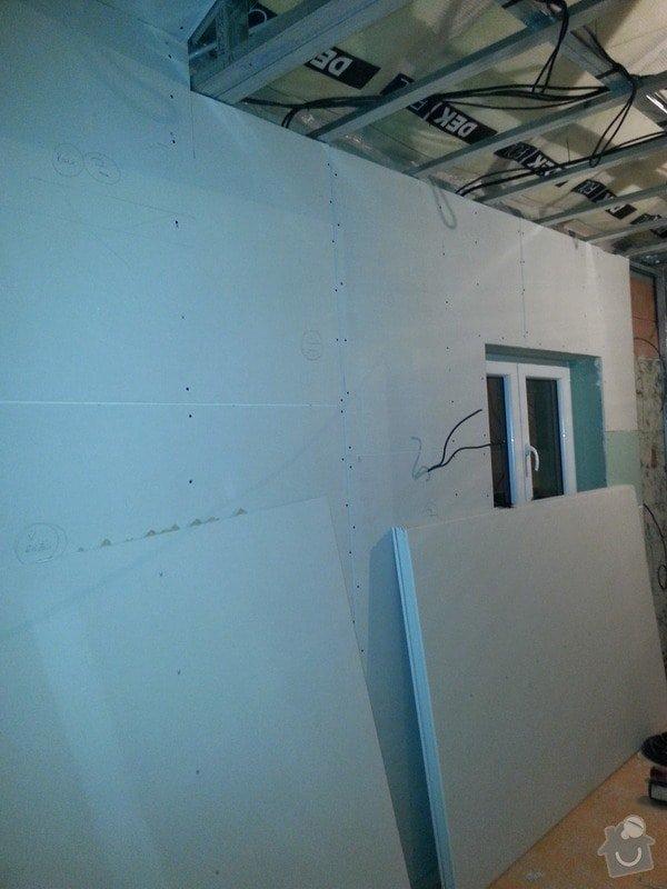 Vytvoření stěn a stropů v kuchyni a koupelně: 20131102_175927