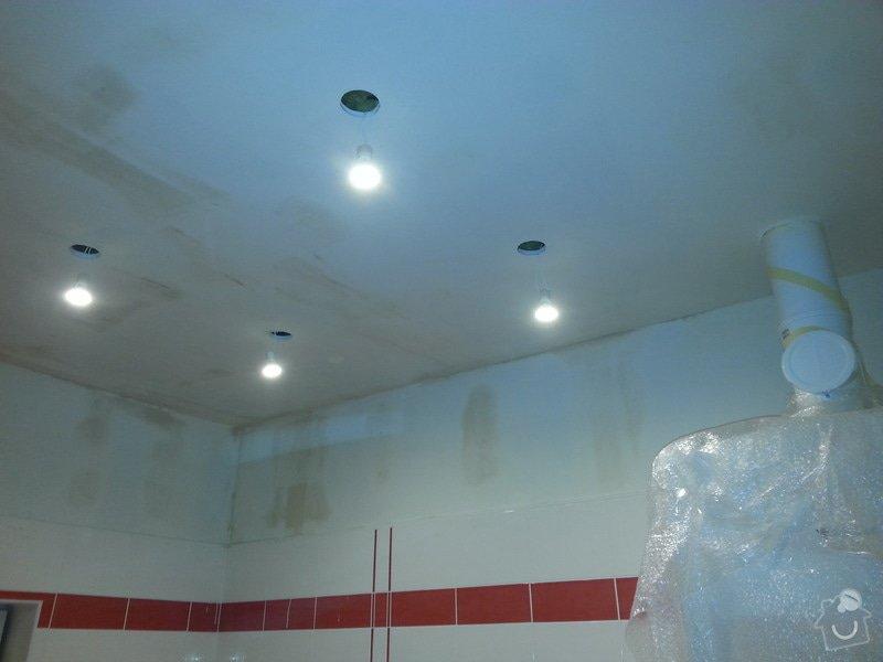 Vytvoření stěn a stropů v kuchyni a koupelně: 20131102_175959