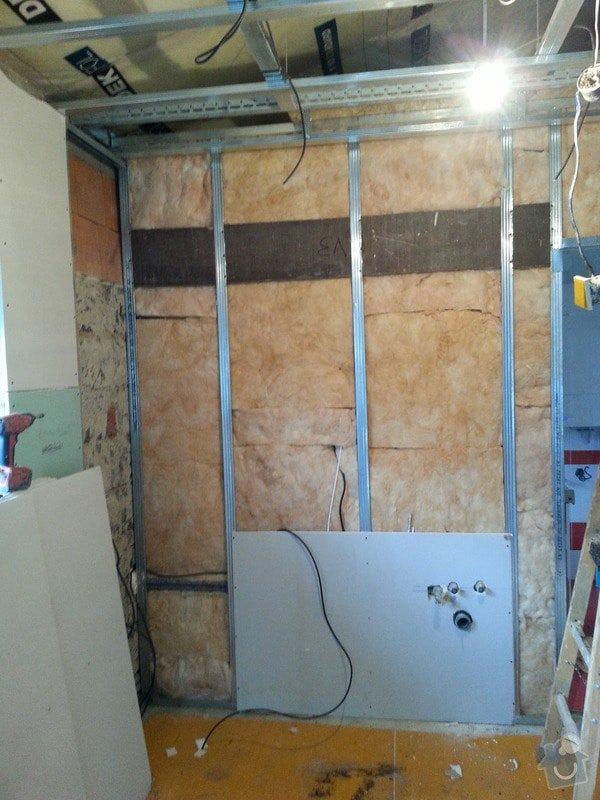 Vytvoření stěn a stropů v kuchyni a koupelně: 20131123_141752