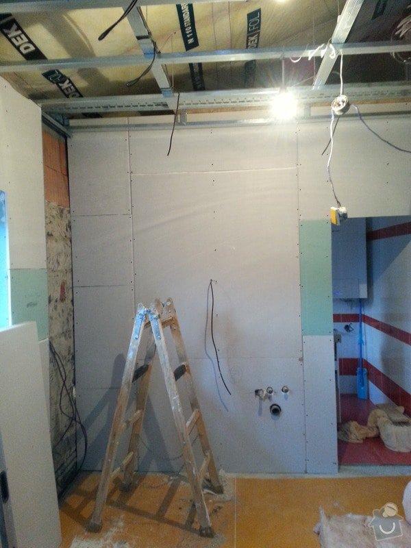 Vytvoření stěn a stropů v kuchyni a koupelně: 20131123_150442