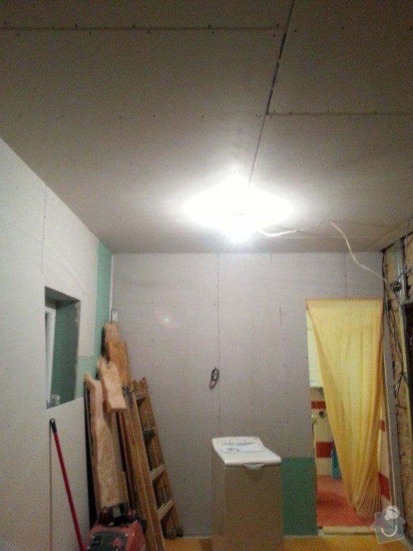 Vytvoření stěn a stropů v kuchyni a koupelně: 20131123_181001